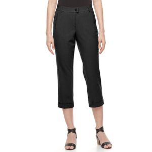 Women's Dana Buchman Crop Cuffed Dress Pants